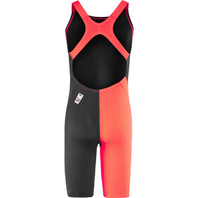 speedo Fastskin Endurance+ Openback Kneeskin Girls black/siren red